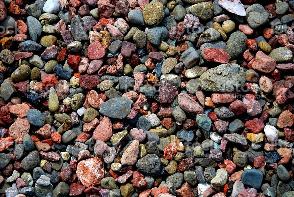 Multi-Colored Pebbles & Rocks - Background royalty-free stock photo