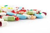 Multicolored Pills and Capsules