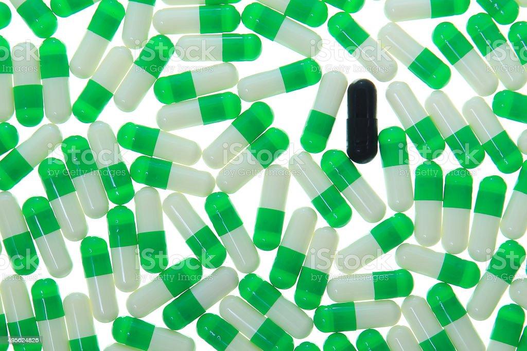 Multi-colored pills stock photo