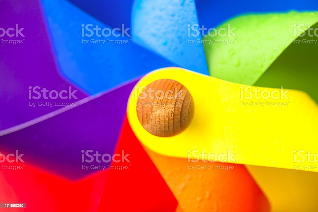 multicolored pinwheel that is in motion royalty-free stock photo