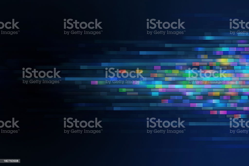 Multi-colored, pixelated background stock photo
