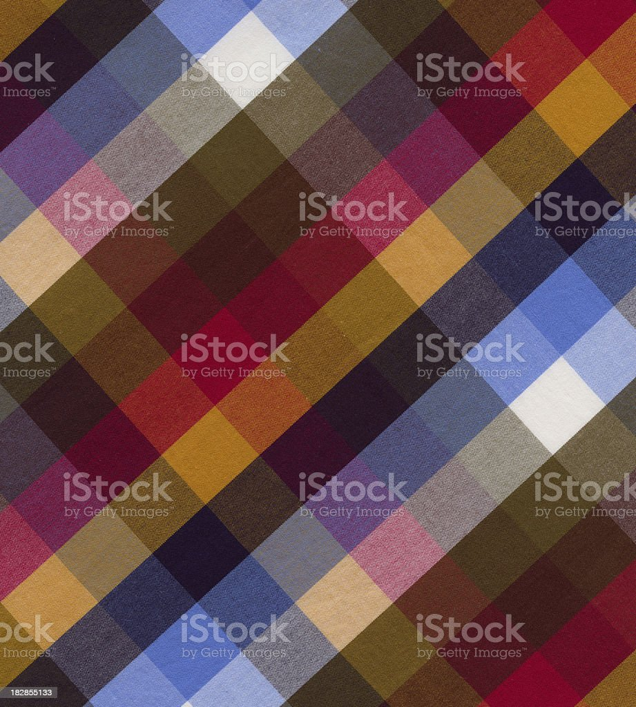 multi-colored plaid woven fabric royalty-free stock photo