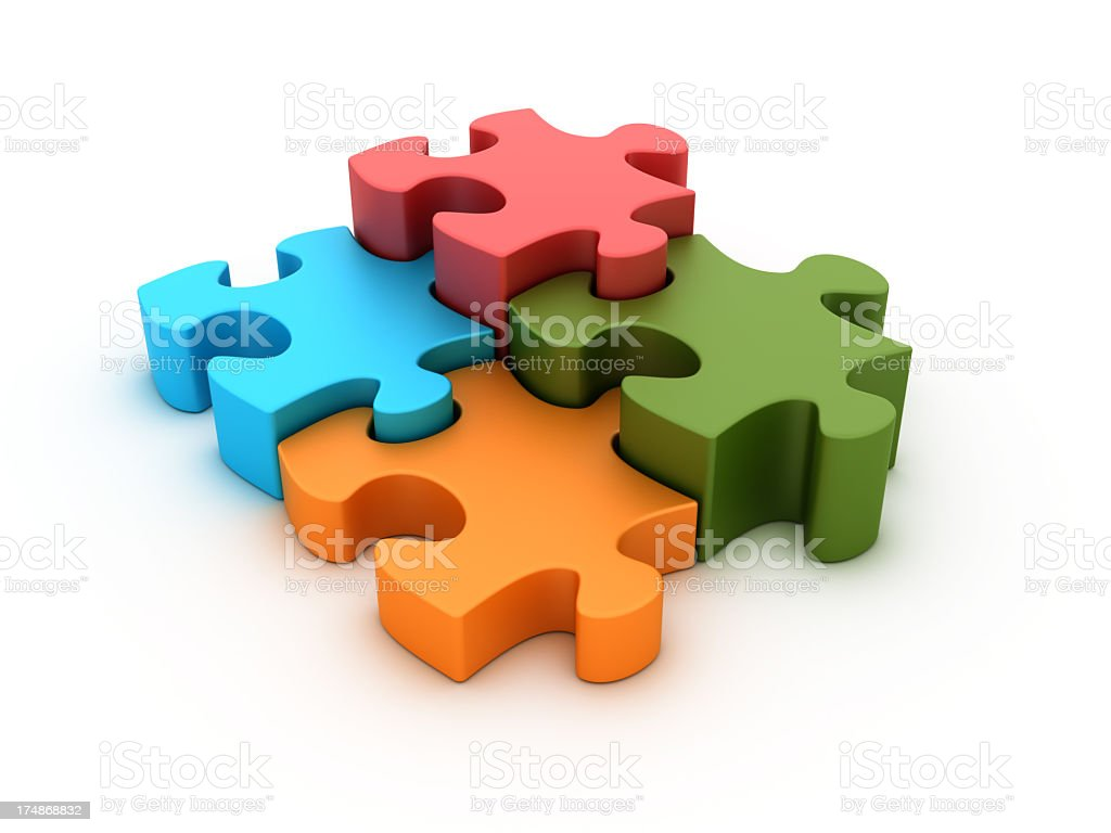 Multicolored Puzzle royalty-free stock photo