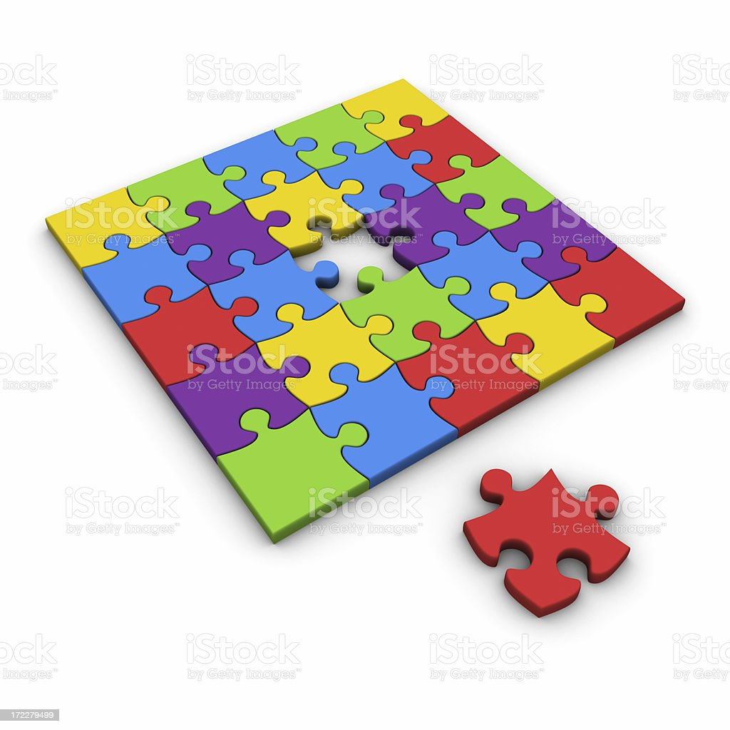 Multi-colored puzzle XXL royalty-free stock photo