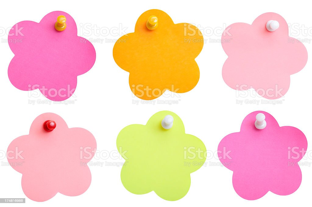 Multicolored reminder stock photo
