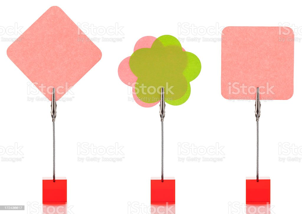 Multicolored reminders royalty-free stock photo