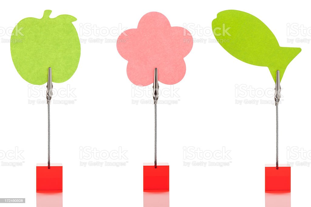 Multicolored reminders stock photo