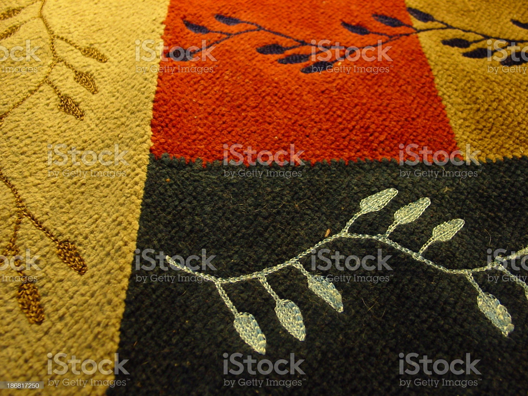 Multicolored Rug 2 royalty-free stock photo
