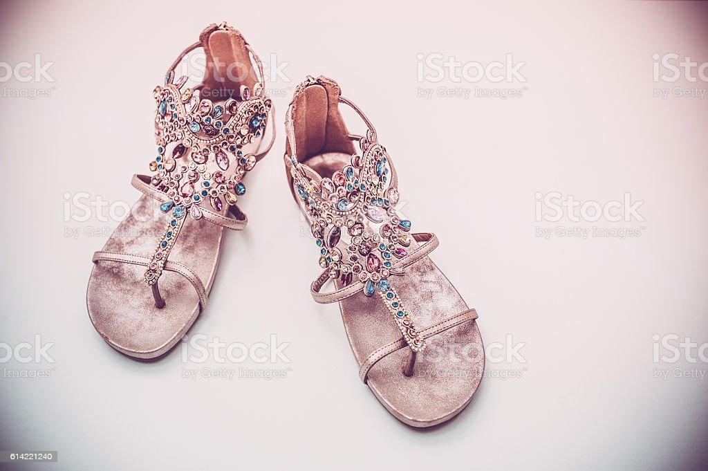 Multicolored Sandals stock photo