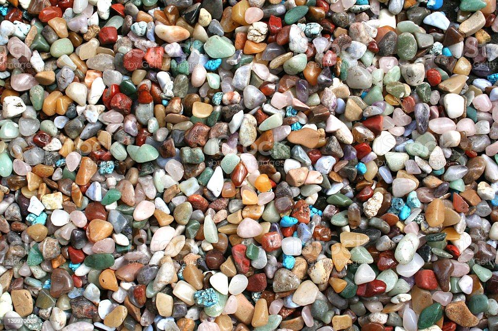 Multi-colored semiprecious stones royalty-free stock photo