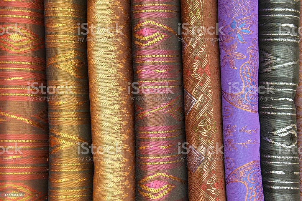 Multicolored silk Thai royalty-free stock photo