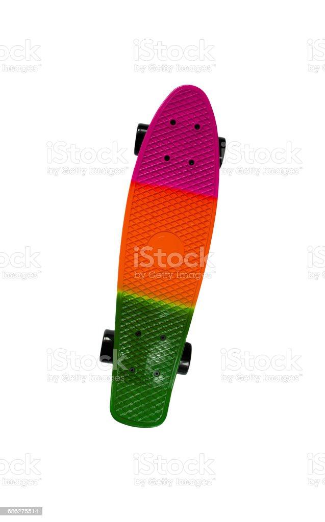 Multicolored skateboard stock photo
