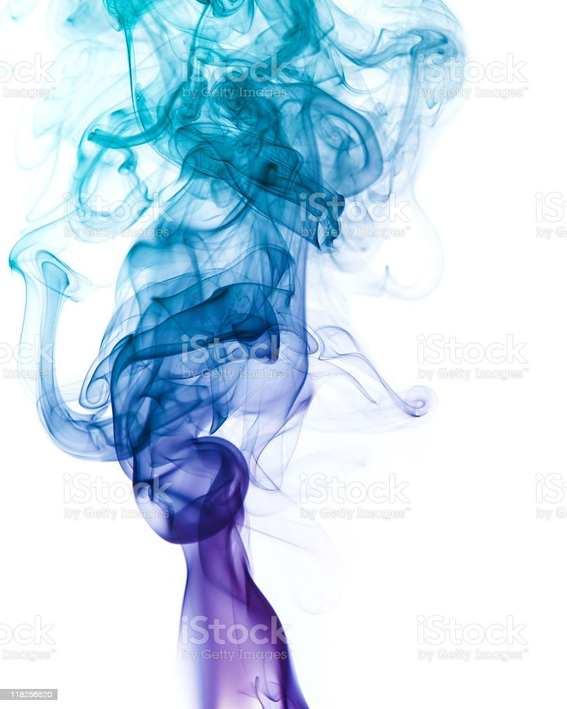 multicolored smoke detail royalty-free stock photo
