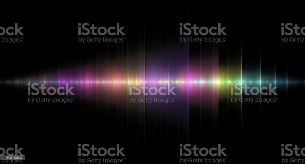 Multicolored Sound Wave stock photo