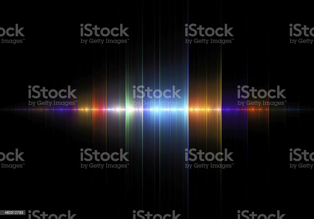 Multicolored Sound Wave royalty-free stock photo