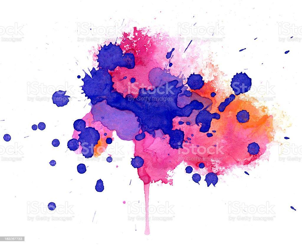 Multicolored splash stock photo