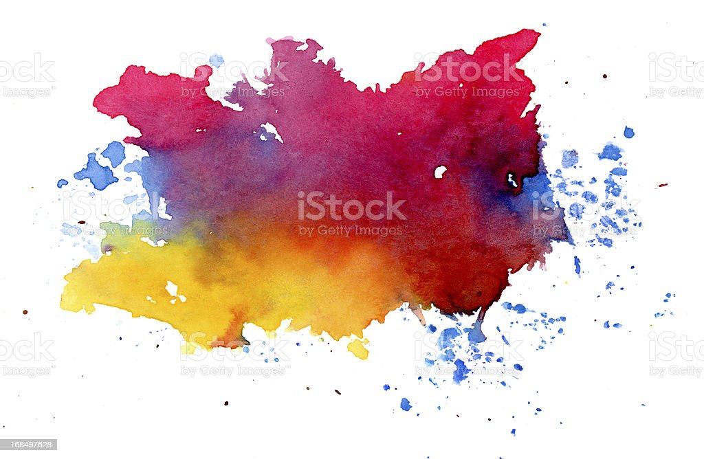 Multicolored splashes royalty-free stock photo