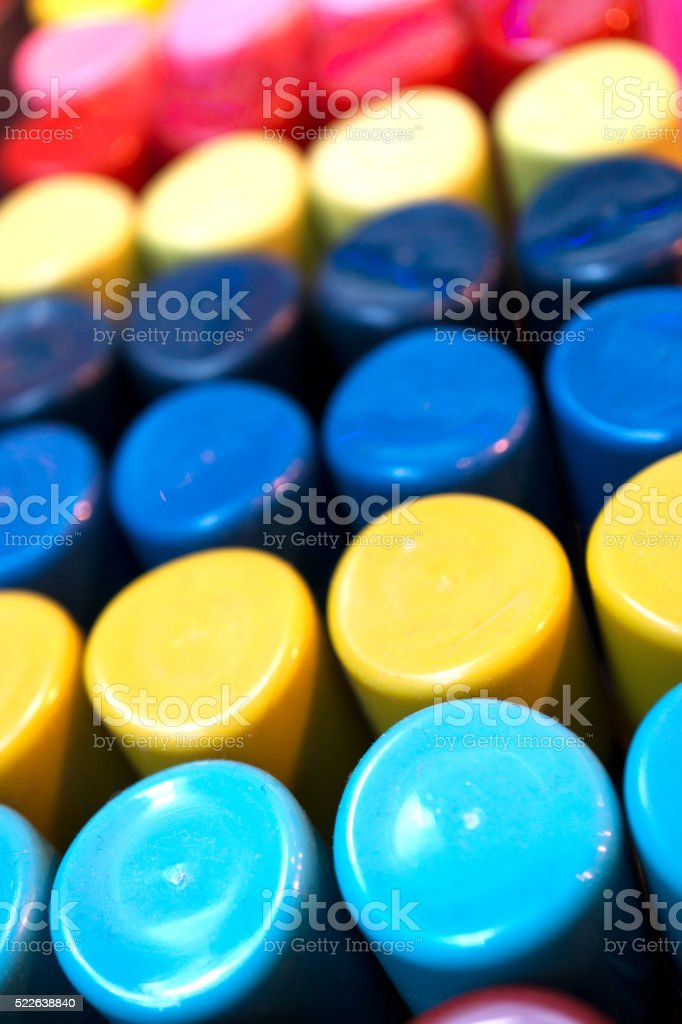 Multicolored sprays stock photo