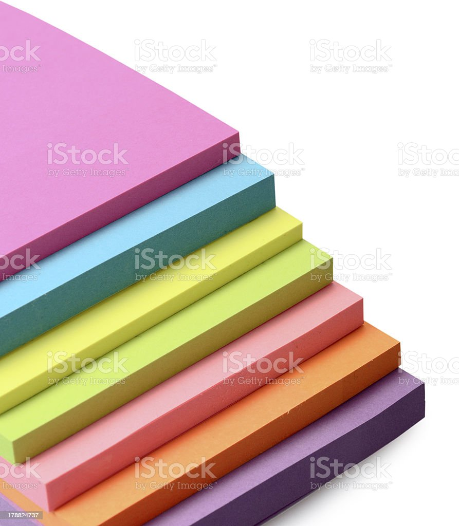 Multicolored stickers royalty-free stock photo