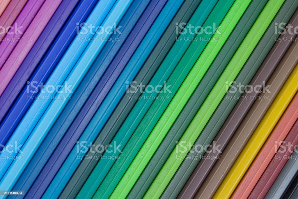 multicolored striped background, assorted color spectrum stock photo