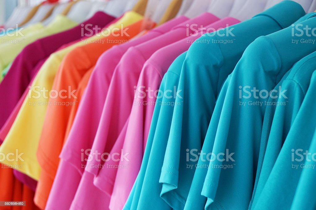 multicolored summer fashion stock photo