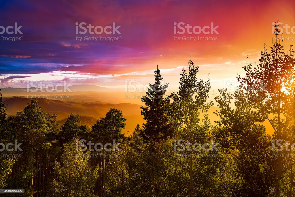 Multicolored Sunset stock photo