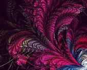 Multicolored symmetrical fractal pattern as flower