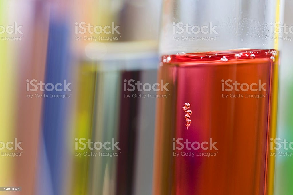 multicolored test tubes royalty-free stock photo
