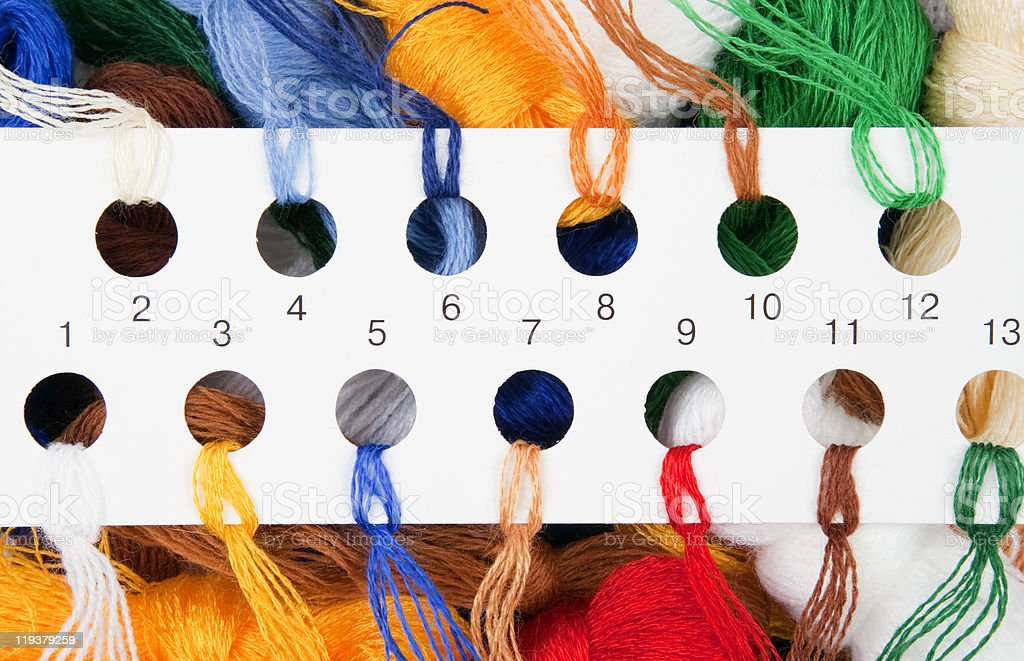 Multicolored threads royalty-free stock photo