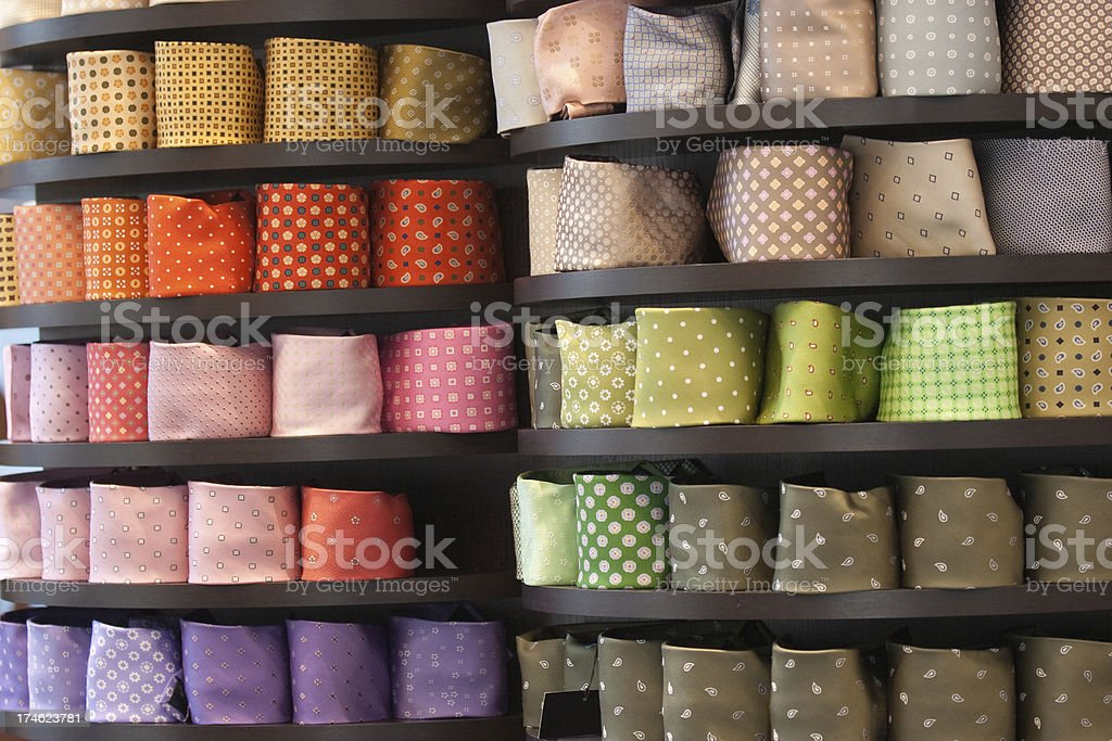 Multicolored Ties exposition royalty-free stock photo