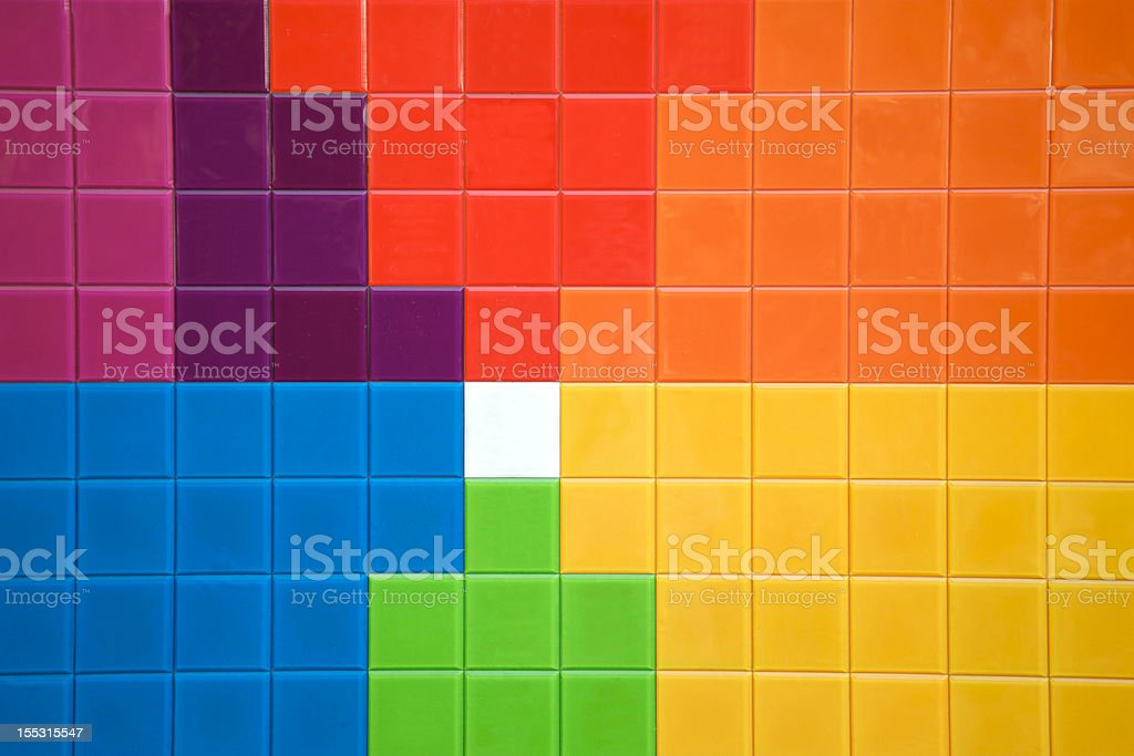 Multicolored tiles royalty-free stock photo