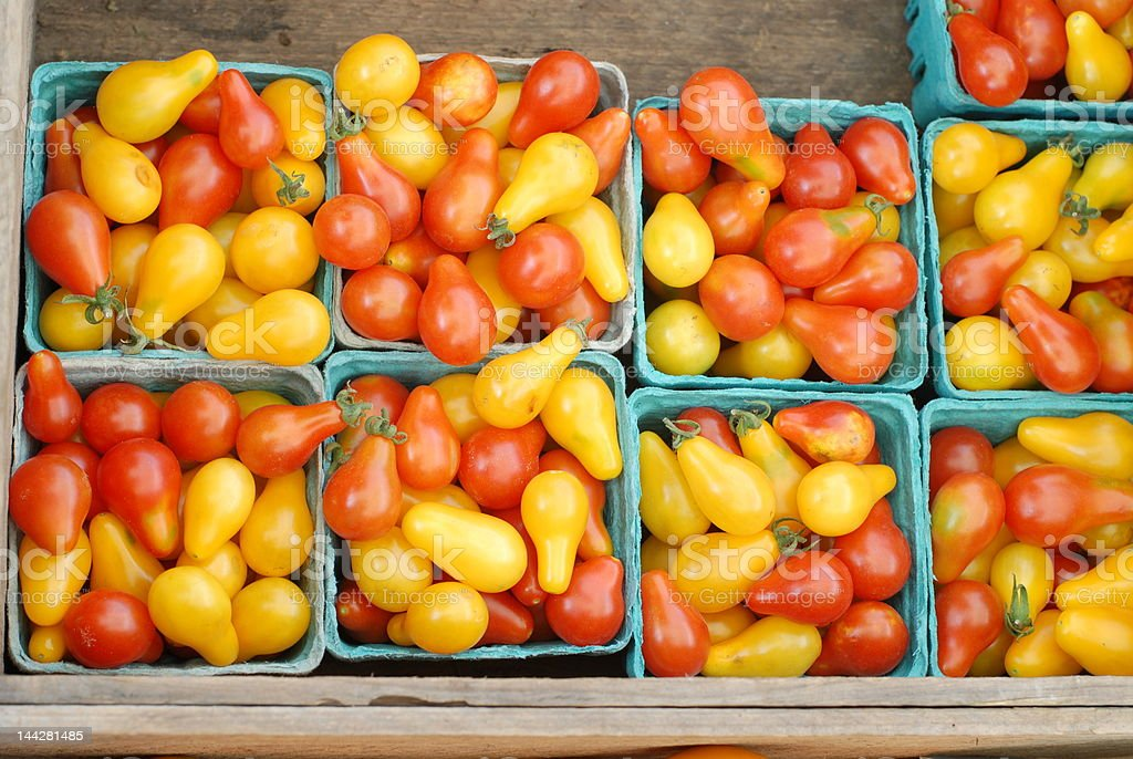 Multicolored Tomatoes at a Farmer's Market royalty-free stock photo