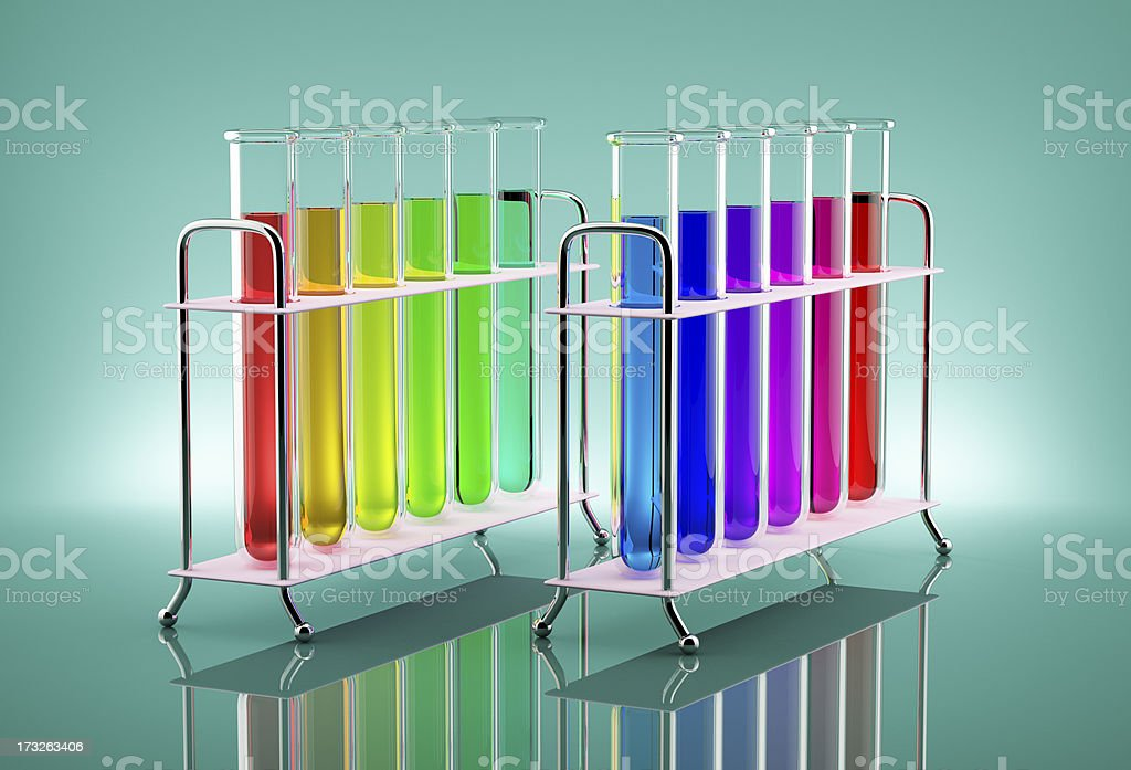 Multicolored tubes royalty-free stock photo