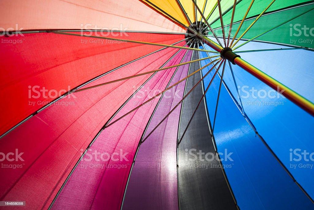 Multicolored Umbrella Close up royalty-free stock photo