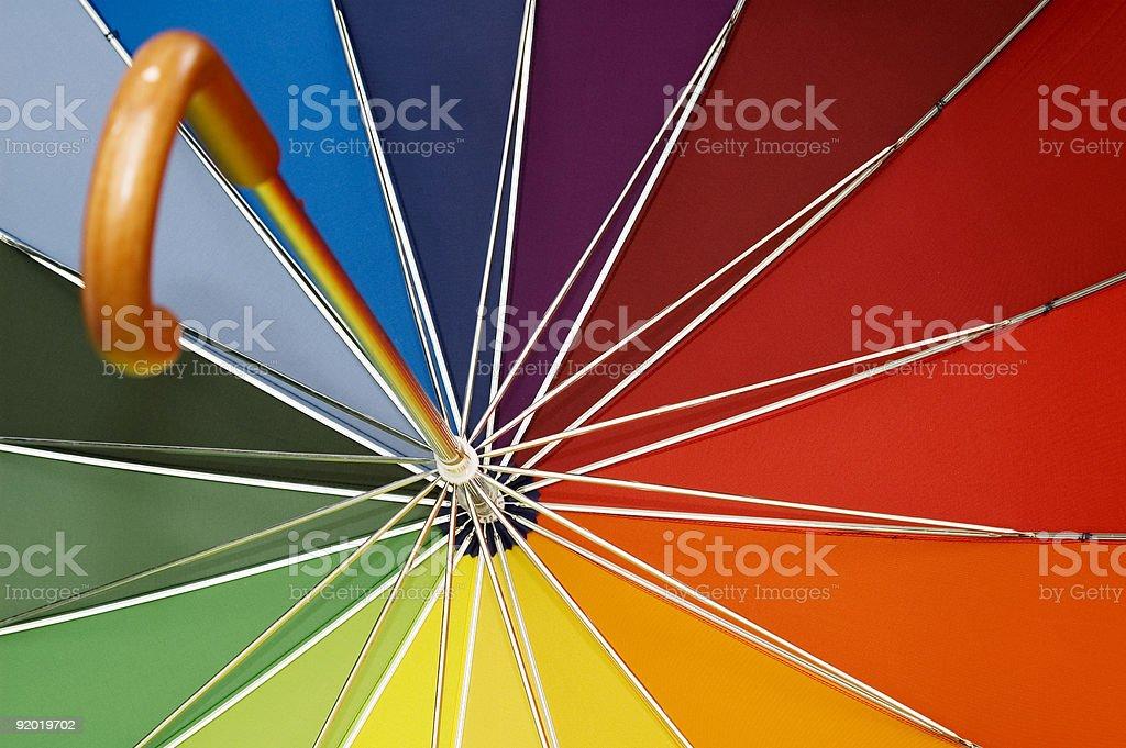 Multicolored Umbrella royalty-free stock photo