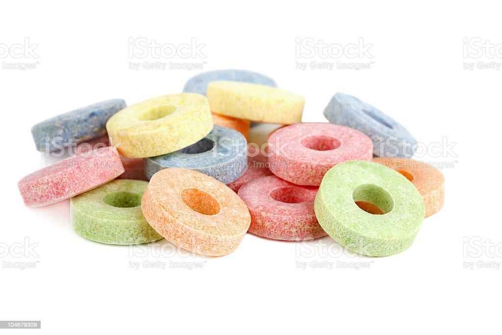 Multicolored vitamin candies stock photo
