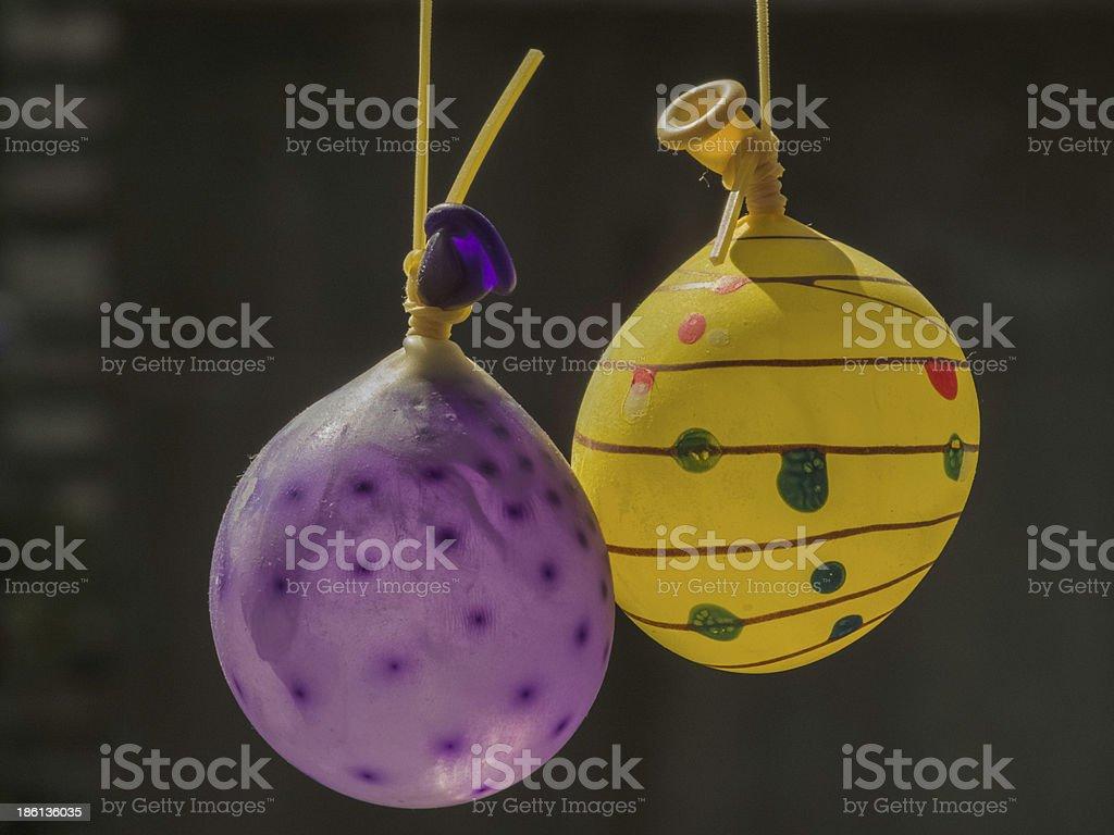 multicolored water balloon stock photo
