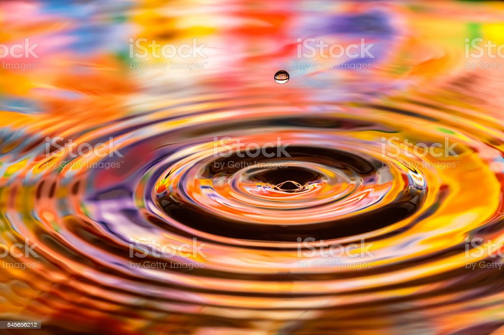 multicolored water drops stock photo