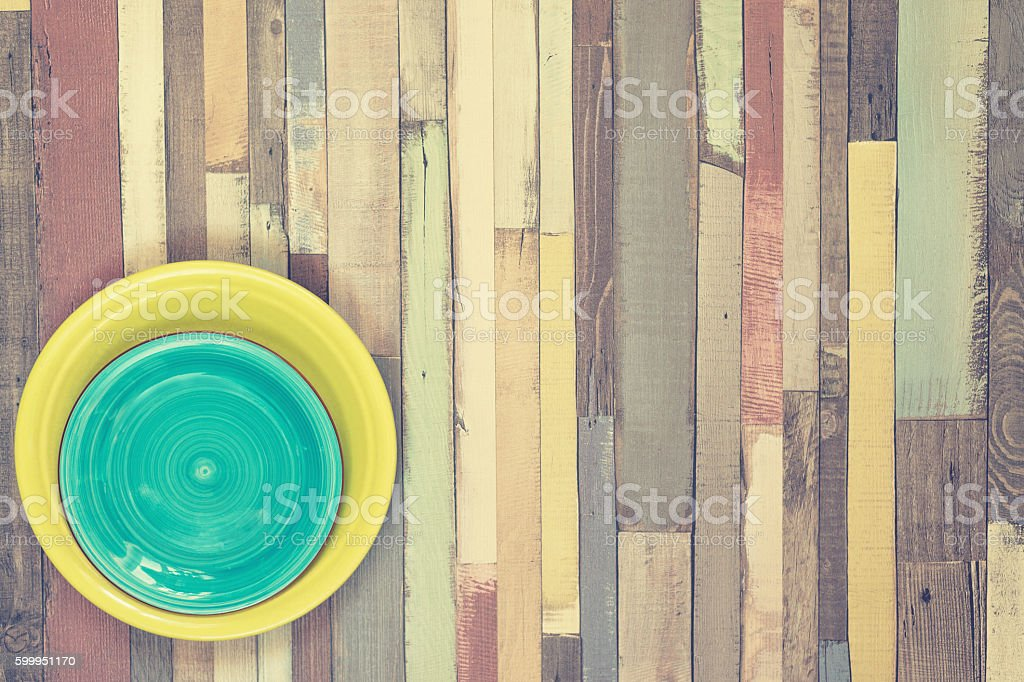 Multicolored wooden background stock photo