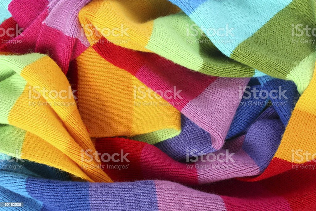 multicolored wool scarf texture royalty-free stock photo