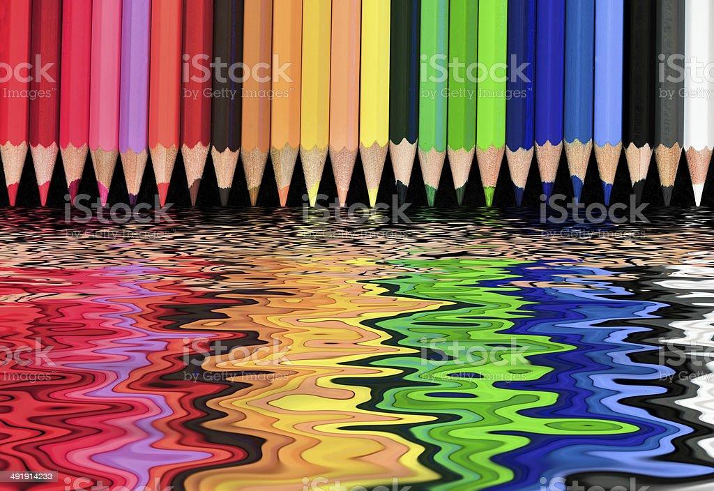 Multi-colored world stock photo