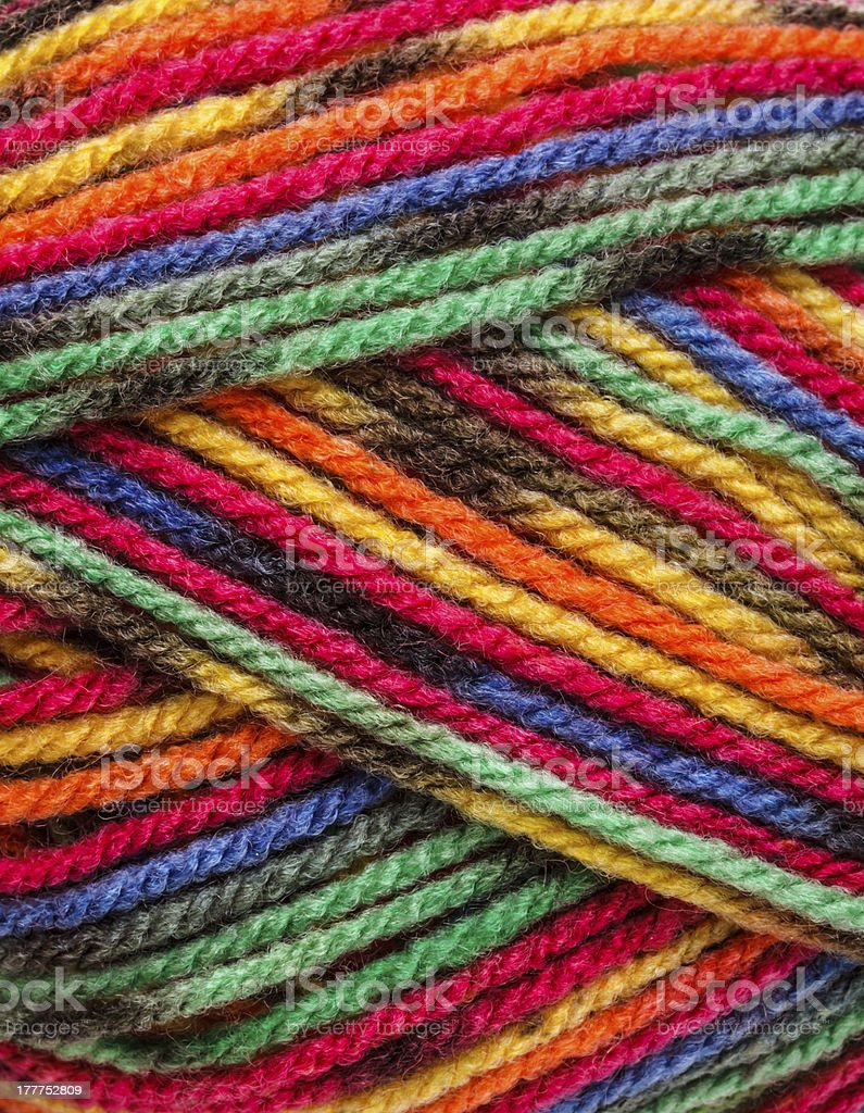 Multicolored yarn royalty-free stock photo