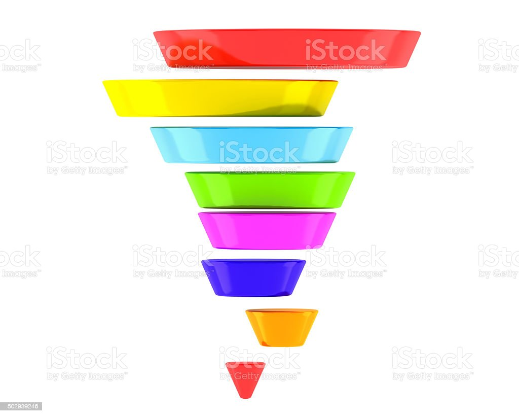 Multicolour Business Infographic Pyramid stock photo