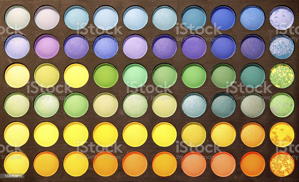 Multicolour eyeshadows palette royalty-free stock photo