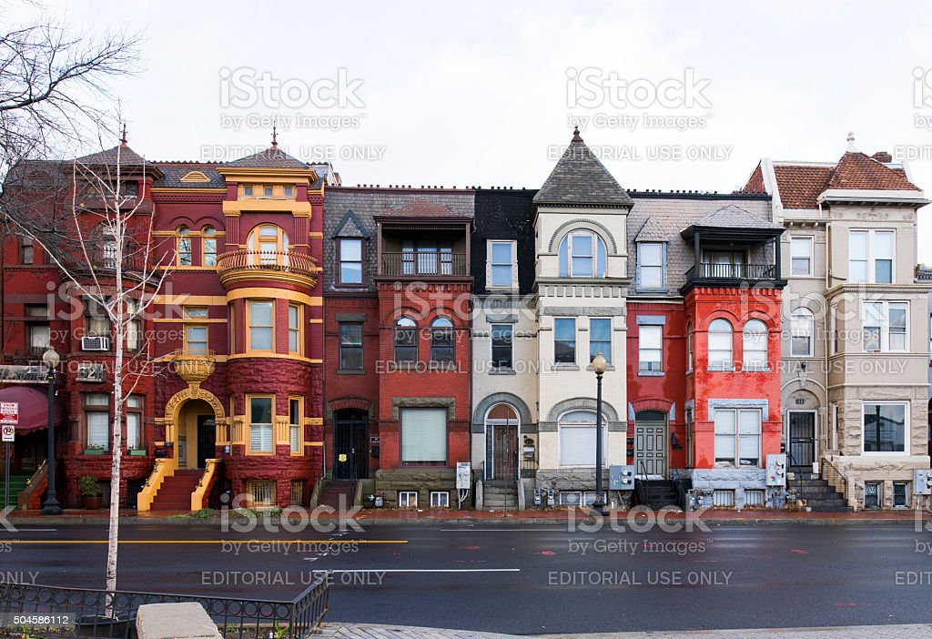 multicolour houses stock photo
