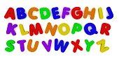 Multicoloured Alphabet Fridge Magnet Letters Background