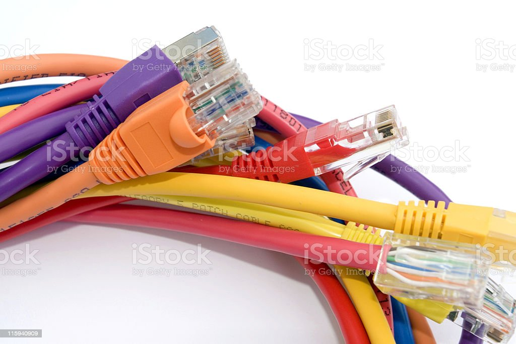 Multicoloured Cables royalty-free stock photo