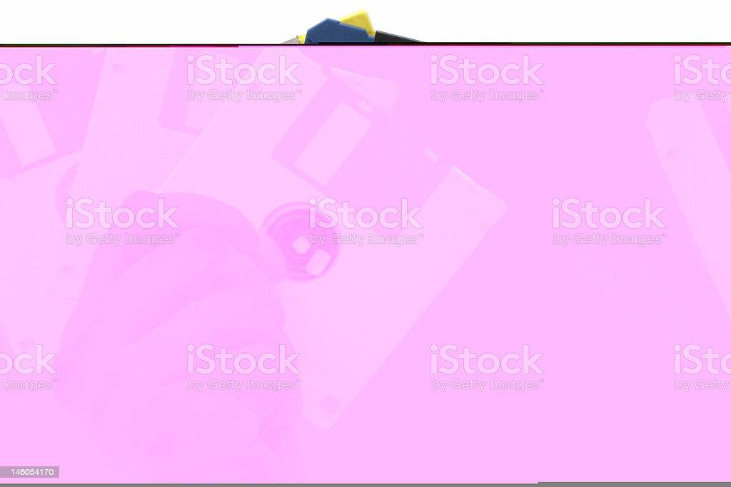 multi-coloured diskettes royalty-free stock photo