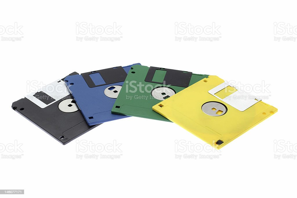 multi-coloured diskettes royalty-free stock photo