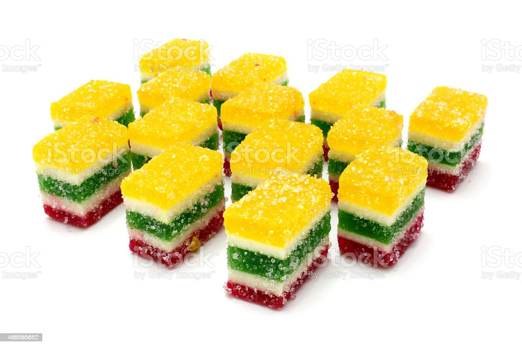 Multi-coloured fruit candy stock photo